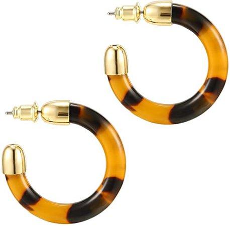 Amazon.com: PAVOI 14K Gold Plated Acrylic Earrings for Women - Leopard Print Statement Resin Earrings | Cheetah Earrings for Women: Jewelry