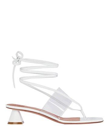 Amina Muaddi Zula Leather Thong Sandals | INTERMIX®