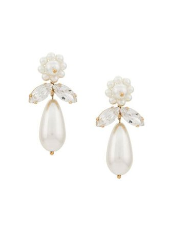 Simone Rocha Crystal And Pearl Drop Earrings - Farfetch