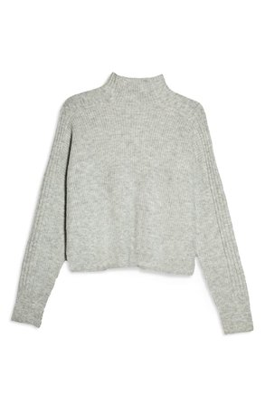 Topshop Funnel Neck Crop Sweater (Regular & Petite) | Nordstrom