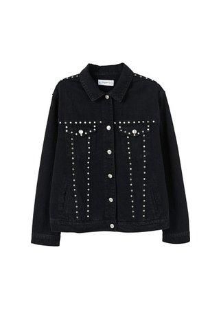 MANGO Studded denim jacket