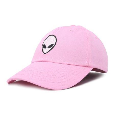 DALIX - DALIX Alien Head Baseball Cap Mens and Womens Hat in Light Pink - Walmart.com - Walmart.com pink