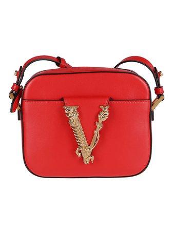 Red Leather Virtus Camera Bag