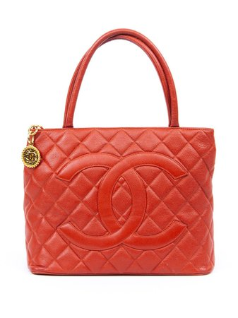Chanel Pre-Owned 2000s Medallion Tote Bag - Farfetch