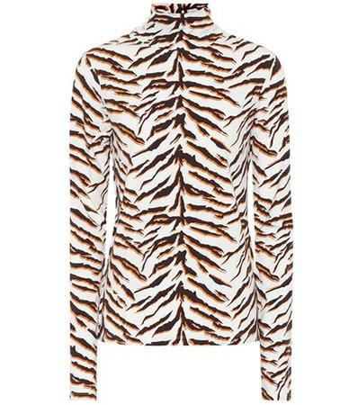 Tiger turtleneck top