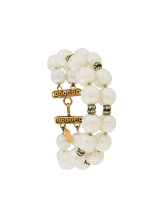 Chanel Pre-Owned 1980S Two-String Faux Pearls Bracelet Vintage | Farfetch.com
