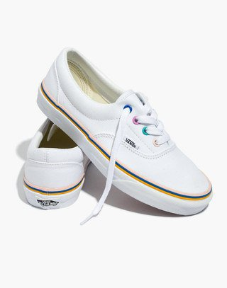 Madewell x Vans® Unisex Authentic Sneakers with Rainbow Grommets