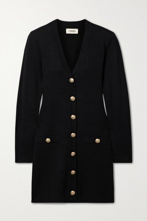 Breanna Knitted Mini Dress - Black