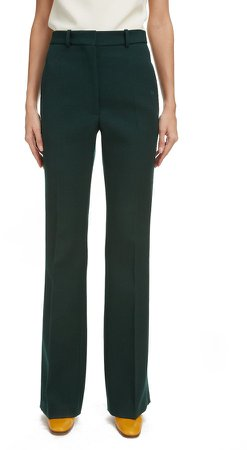 High Waist Flare Leg Trousers