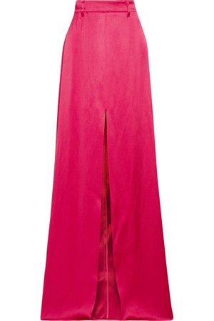 Prada   Satin maxi skirt   NET-A-PORTER.COM