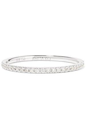 Anita Ko | 18-karat white gold diamond eternity ring | NET-A-PORTER.COM