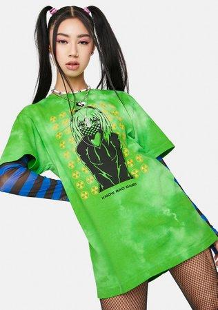 Know Bad Daze Toxic Tie Dye Graphic Tee | Dolls Kill