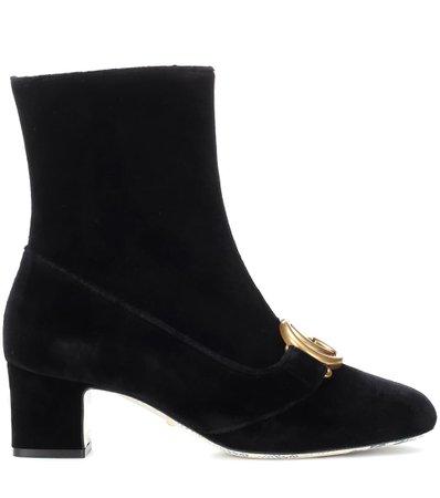 Embellished Velvet Ankle Boots   Gucci - mytheresa