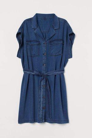 H&M+ Lyocell Shirt Dress - Blue