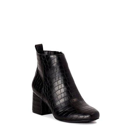 Time and Tru Women's Block Heel Booties - Walmart.com - Walmart.com