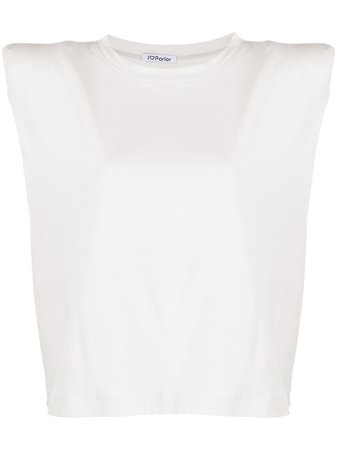 Parlor padded-shoulders Top - Farfetch