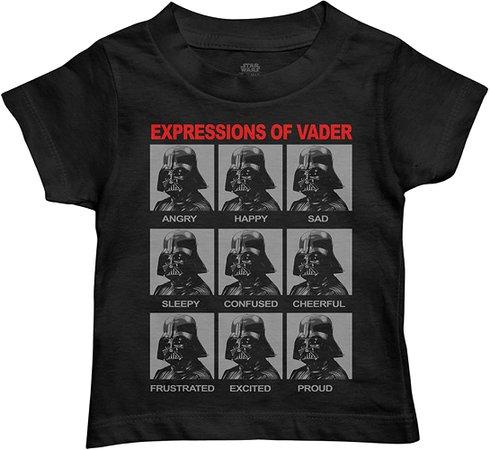 Amazon.com: Star Wars Boys' Darth Vader Expressions Graphic Tee T-Shirt (Black, 4T): Clothing