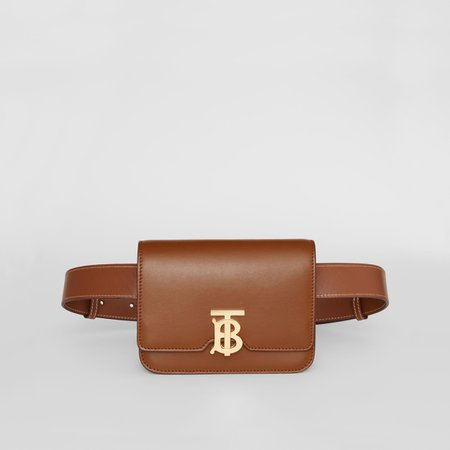 Belted Leather TB Bag in Malt Brown - Women   Burberry United Kingdom