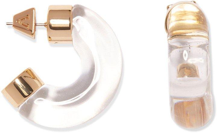 Chunky Resin Hoop Earrings