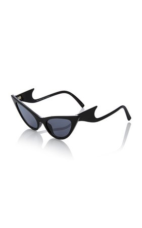 The Prowler Acetate Cat-Eye Sunglasses by Adam Selman X Le Specs | Moda Operandi