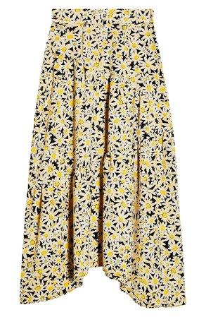 Topshop Daisy Tiered Midi Skirt | Nordstrom