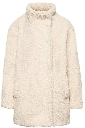Faux Shearling Cocoon Coat
