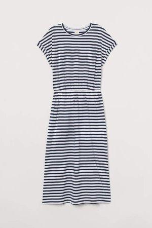 Modal-blend Jersey Dress - Blue
