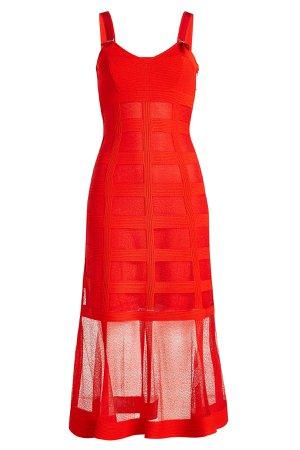 Silk Dress with Sheer Skirt Gr. S