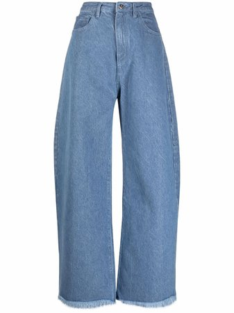 Shop Marques'Almeida high-waist wide-leg jeans with Express Delivery - FARFETCH