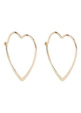 Orelia Heart golden gold earings earing earring hoops Bijenkorf