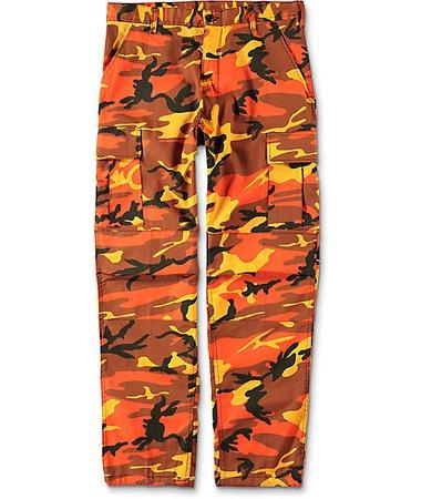 Rothco BDU Savage Orange Camo Cargo Pants   Zumiez