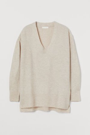 Jumper - Light beige marl - Ladies | H&M IE
