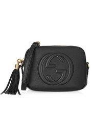 Gucci | Dionysus patent leather-trimmed embossed velvet shoulder bag | NET-A-PORTER.COM
