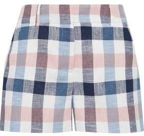 Ilene Checked Cotton-blend Shorts