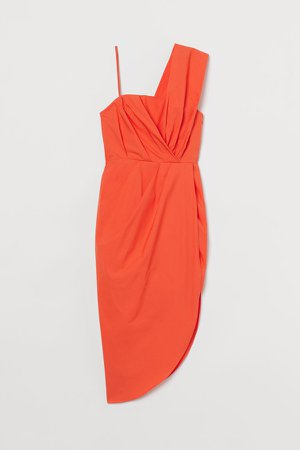 Draped Dress - Orange