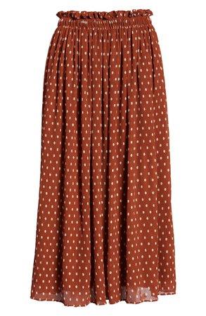 Nordstrom Halogen® x Atlantic-Pacific Crinkle Midi Skirt