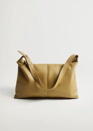 Quilted maxi bag - Women   Mango USA brown