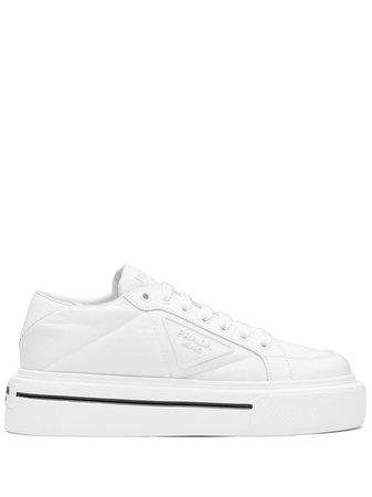 Shop white Prada Gabardine low-top sneakers with Afterpay - Farfetch Australia