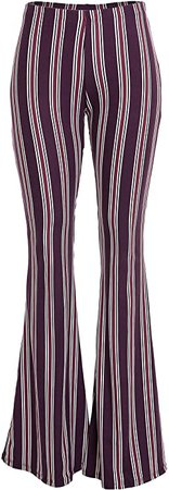 FASHIONOMICS Womens Boho Comfy Stretchy Bell Bottom Flare Pants at Amazon Women's Clothing store