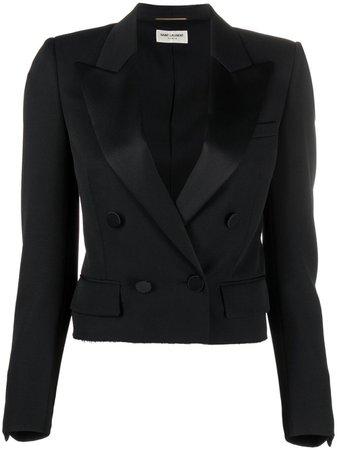 Saint Laurent cropped tailored blazer