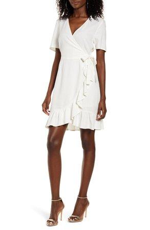 VERO MODA Helen Faux Wrap Minidress | Nordstrom