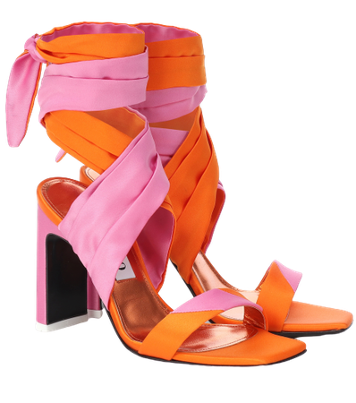 THE ATTICO Paris satin sandals