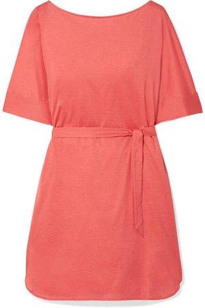 Les Essentiels Cesar Cotton-jersey Mini Dress - Coral
