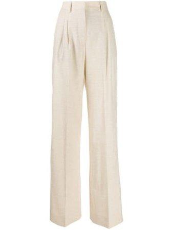 Fendi high-rise wide leg trousers