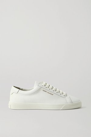 Andy Logo-print Leather Sneakers - White