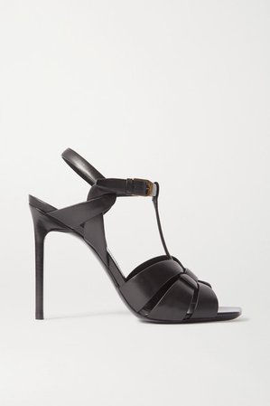 Tribute Woven Leather Sandals - Black