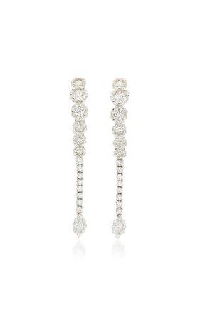 Yeprem 18K White Gold Y-Not Earrings