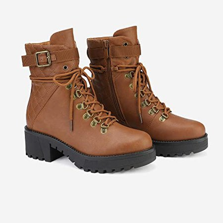 Amazon.com | DREAM PAIRS Women's Lace up Platform Ankle Boots | Ankle & Bootie