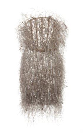 Embellished Strapless Feather Dress by Pamella Roland | Moda Operandi