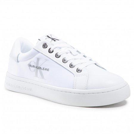 Сникерсы CALVIN KLEIN JEANS - Cupsole Sneaker Laceup Pu-Ny YW0YW00060 Bright White YAF - Сникерсы - Туфли - Женская | eobuv.com